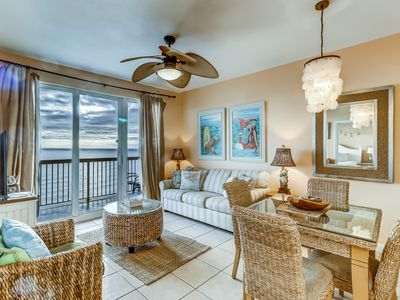 Photo for Serene & upscale beachfront condo w/ a furnished balcony, view, & shared pools