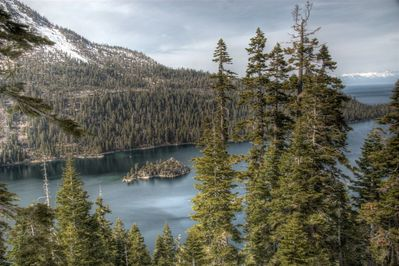 Stunning photo of Emerald Bay taken by a Sugarpine guest