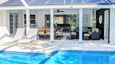 Photo for East of A1A Pool Home Steps to Beach!  Heated Pool, Hot Tub, Bikes, and Kayaks