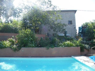 Photo for Medieval house in hamlet near Assisi, panoramic views, swimming pool