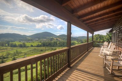 Front porch with view #views