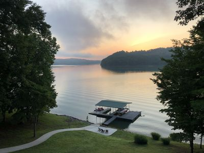 Photo for Lakefront Home in Deerfield Resort with Stunning Norris Lake Views