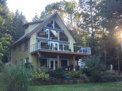 Photo for Ocean view, Galiano Island retreat plus more