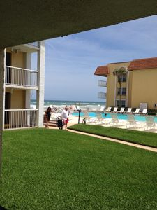 Photo for 1st Floor Ocean View - Poolside Condo on Non-driving Beach