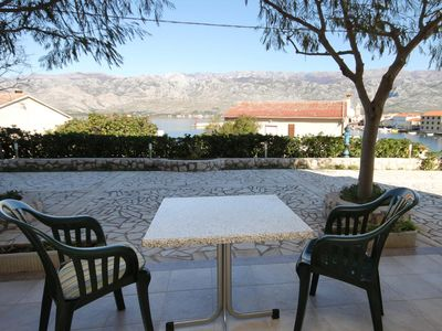 Photo for Studio flat with terrace and sea view Vinjerac, Zadar (AS-3248-b)