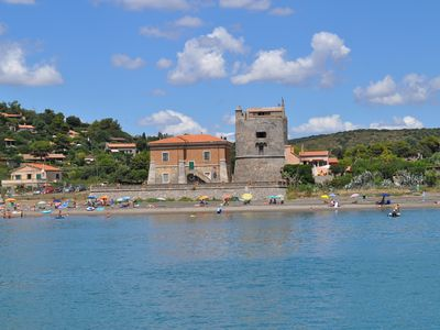 Photo for Orbetello, Ansedonia, Spanish Tower complex on the beach