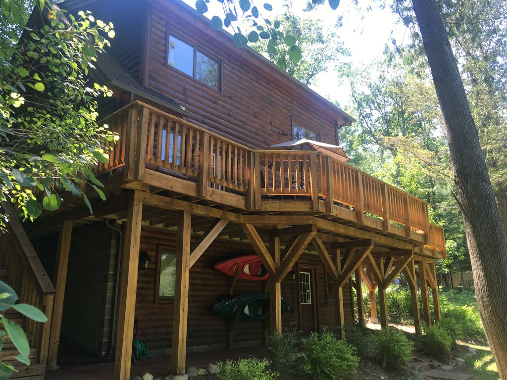 sidell s sturgeon river log cabin vrbo