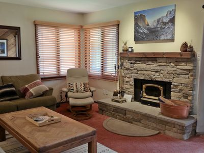 Photo for Cozy, Renovated, Pets Welcome! Wi-fi, Fireplace, Hot Tub, Central Town Location