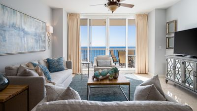 Photo for Beautifully renovated Gulf Front condo w Beach Set-up!