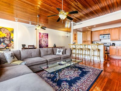 Photo for Hosteeva | Huge 4-bedroom, 2-living room Condo in the Heart of New Orleans | Steps to FQ
