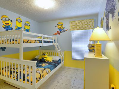 Photo for ⭐⭐⭐⭐⭐Luxury Villa, Pool 2 miles to Disney Minions, Frozen , Themed Bedrooms 2811