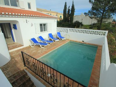 Photo for Beautiful 2 bed house with private pool in a secluded spot near Praia Da Luz
