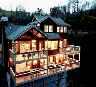 Photo for *NEW* Luxury 3 MASTER/3BA Cabin: 360º Mt. LeConte Views! Firepits/Hottub