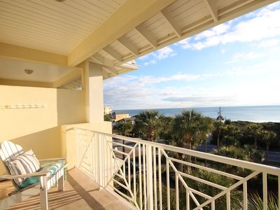 """Photo for Gulf Place Cabana's """"Porch Time"""" condo has gulf views and is gorgeous!"""
