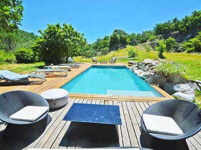 Photo for Villa in the woods 5/6 bedrooms 12 people jacuzzi hammam private heated pool