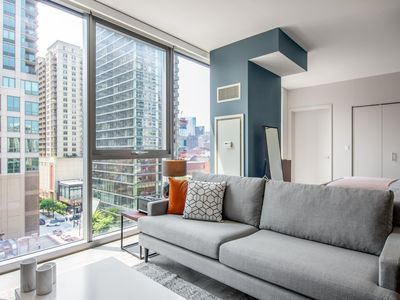 Photo for Comfy River North Studio w/Pool, Deck +Grills near Mag Mile by Blueground