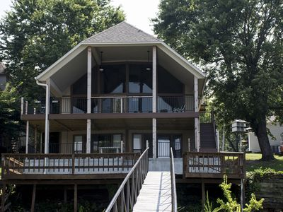 "Photo for Beautiful Five Bedroom Home with a ""Grand View"" of Lake ""Newly Listed"""