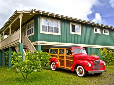 Photo for Sweet Hanalei Home! Bright, Airy, Clean, minutes walk/block to Hanalei Bay!