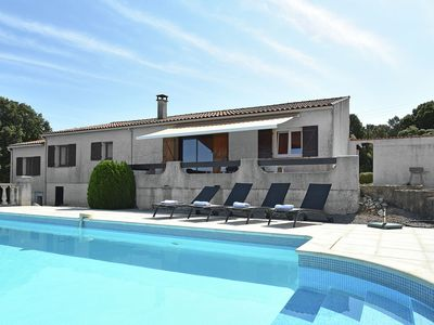 Photo for Single storey villa with private pool, stunning views, near beach and lake