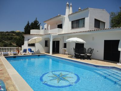 Photo for 4 bed villa with pool, family friendly, on a hill behind Faro, great views.