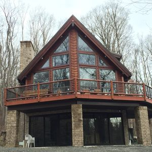 Photo for Stream Front Log Home Near 7 Springs, 4 BR