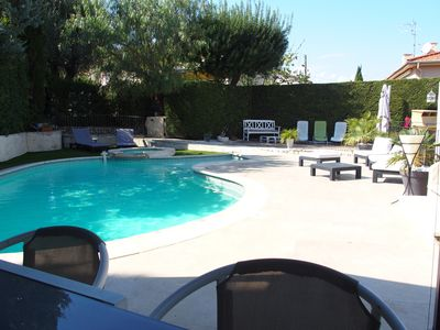 Photo for CAGNES, Villa of charm, ideal family, close beach and trade