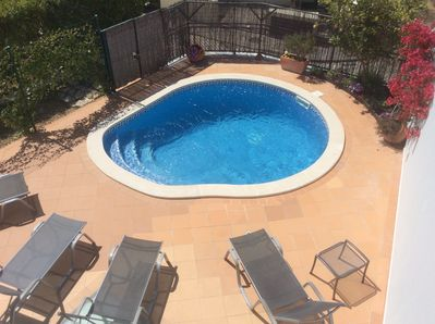 Our spacious and restful pool patio