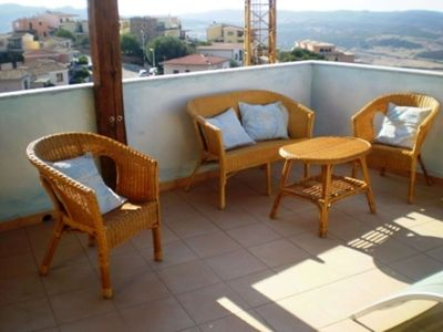 Photo for Holiday Apartment with Terrace & Air Conditioning; Parking Available, Pets Allowed