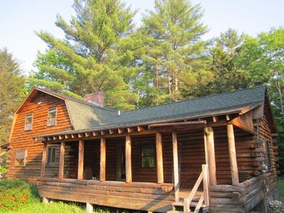 Photo for Log Cabin in White Mountains-Very cozy, Near hiking, skiing, furnished& equipped