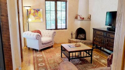 Photo for Short Walk to The PLAZA and 1 Block to The Georgia O'Keefe Museum! Beautiful 1 Bedroom Southwestern Style Pet Friendly Casita.