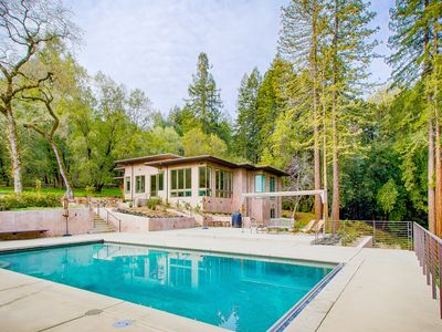 Photo for Modern 4BR, 4BA w/ Pool - Located in Ultimate Privacy of Sonoma's Redwoods
