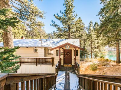 Photo for Lakefront View! Pool Table & Direct Lake Access - 7 Miles to Snow Valley