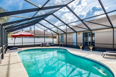Large screened in pool offer perfect refreshment from the Florida sun.