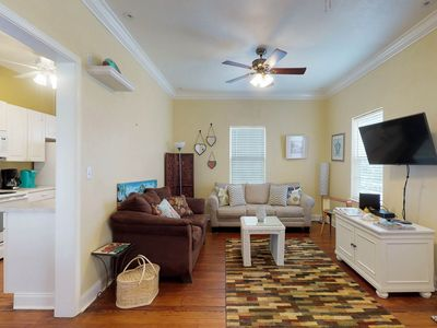 Photo for Charming, dog-friendly home in historical district - close to the beach!