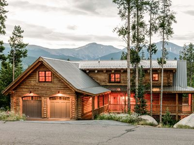 Photo for FLEXIBLE CANCELLATION | Luxury Log Home | Large Deck w/ Views | Game Room | Private Hot Tub
