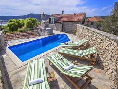 Photo for NEW STONE VILLA WITH HEATED POOL