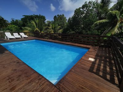 Photo for T2 any comfort in bottom of villa with swimming pool
