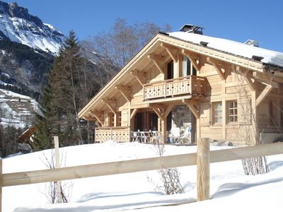 Photo for SUPERB CHALET southern exposure, terrace, garden, barbecue, 400m from the village