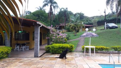 Photo for SITE WITH BARBECUE, SWIMMING POOL, FOOTBALL, LAKE, TABLES OF GAMES, MORRO DE SABOÓ