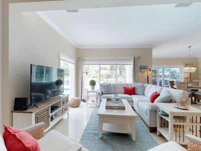 Photo for NEW LISTING! Canalfront house w/private pool & close location near golf, beach