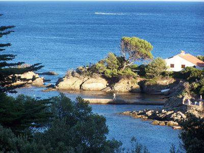 Photo for Saint-Tropez Bay: villa sleeps 2/8, panoramic sea view and beach/calanque 200 m