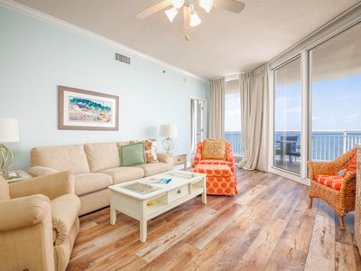 Photo for Comfortable Gulf Front Condo w/ 2 Beach Chairs Included, Short Walk To Dining