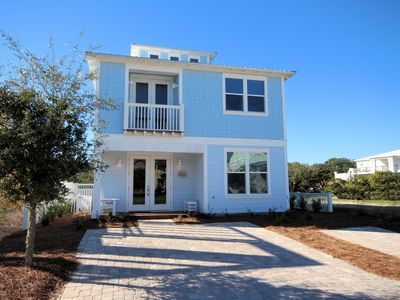 "Photo for In Seagrove ""Tide Me Over"" Brand New 4BR Ocean Views and hot tub!"
