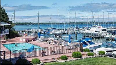 Photo for The Boat House on Lake Charlevoix.Amazing view.Pool.Town .