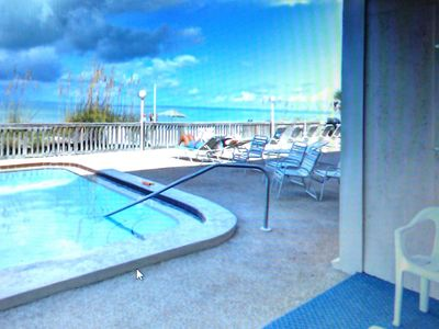 Photo for Ground Floor Gulf Front Condo. Steps to Beach/Pool!