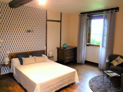 Photo for Basque Country Bed and Breakfast 2 (Amiñi room) near St Jean Pied de Port