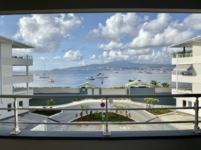 Photo for Beachfront vacation, luxury apartment 50m2, 2 pers = SUPER VIEW