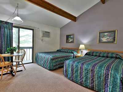 Photo for Deluxe Two Queen Bed Standard Hotel Room on 2nd floor w/ outdoor heated pool