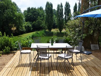 Photo for Luxury holiday home escape, set in an acre of private garden with its own lake