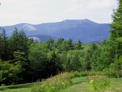 Catherdral Ledge and Moat Mountain Range from Dining Room